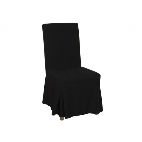 Black Fitted Covered Chairs