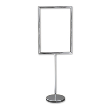 A2 Sign Display Silver