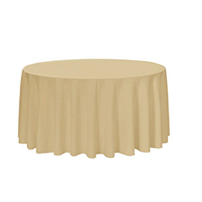 Beige Round Table Linens
