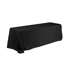 black rectangle table