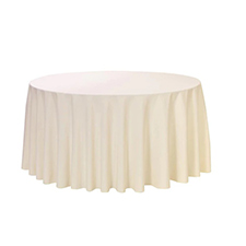 Ivory Round Table Linens