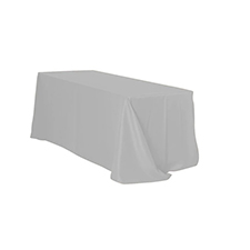 Silver Rectangle Table Linens
