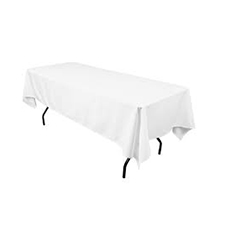White Rectangle Table Linens