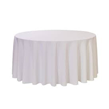 White Round Table Linens