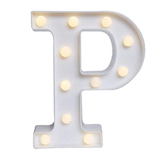 'P' Led Light