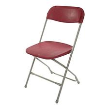 Burgundy Plastic folding Chair