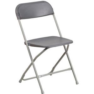 Gray Plastic folding chair