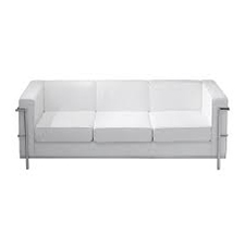 White Corbusier Chair 3-Seater