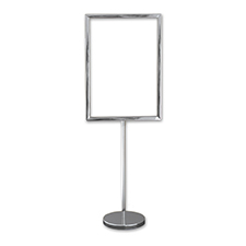 A4 Sign Display Silver