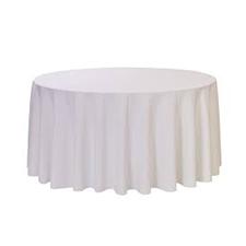 White Round Table Linens